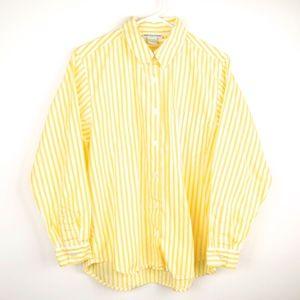 Mark Fore Strike Yellow Striped Button Down Shirt